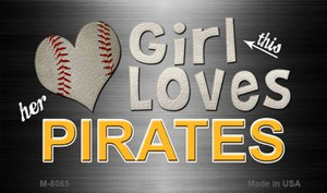 This Girl Loves Her Pirates Wholesale Magnet M-8085