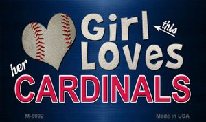 This Girl Loves Her Cardinals Wholesale Magnet M-8092