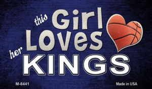 This Girl Loves Her Kings Wholesale Magnet M-8441
