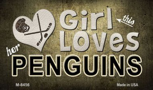 This Girl Loves Her Penguins Wholesale Magnet M-8456