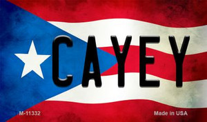 Cayey Puerto Rico State Flag Wholesale Magnet M-11332