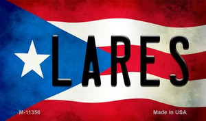 Lares Puerto Rico State Flag Wholesale Magnet M-11356