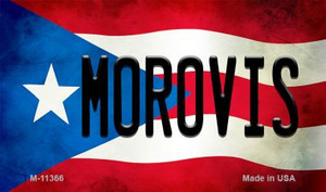 Morovis Puerto Rico State Flag Wholesale Magnet M-11366
