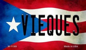 Vieques Puerto Rico State Flag Wholesale Magnet M-11389