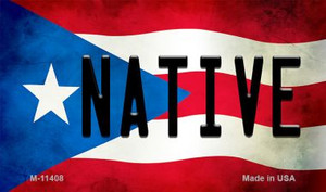 Native Puerto Rico State Flag Wholesale Magnet M-11408