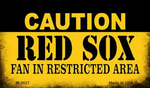 Caution Red Sox Fan Area Wholesale Magnet M-2627