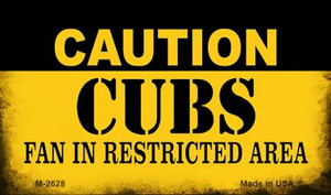Caution Cubs Fan Area Wholesale Magnet M-2628