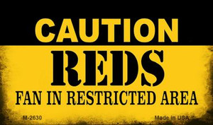 Caution Reds Fan Area Wholesale Magnet M-2630