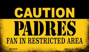 Caution Padres Fan Area Wholesale Magnet M-2646