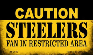 Caution Steelers Fan Area Wholesale Magnet M-2517