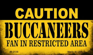 Caution Buccaneers Fan Area Wholesale Magnet M-2536
