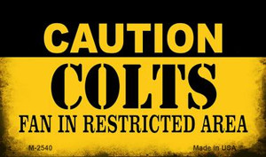 Caution Colts Fan Area Wholesale Magnet M-2540