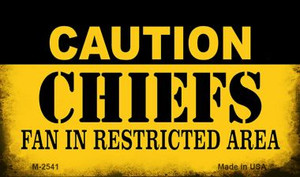 Caution Chiefs Fan Area Wholesale Magnet M-2541