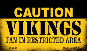 Caution Vikings Fan Area Wholesale Magnet M-2545