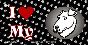 I Love My Airdale Terrier Wholesale Key Chain KC-3886