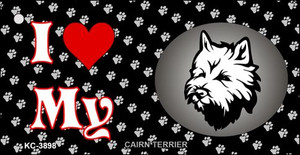 I Love My Cairn Terrier Wholesale Key Chain KC-3898