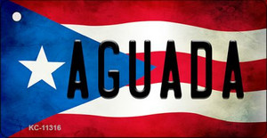 Aguada Puerto Rico State Flag License Plate Wholesale Key Chain KC-11316