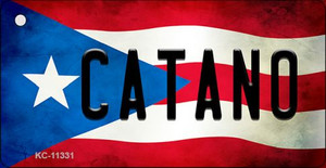 Catano Puerto Rico State Flag License Plate Wholesale Key Chain KC-11331