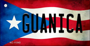 Guanica Puerto Rico State Flag License Plate Wholesale Key Chain KC-11343