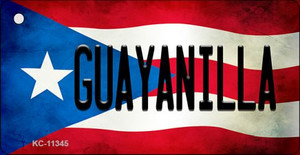 Guayanilla Puerto Rico State Flag License Plate Wholesale Key Chain KC-11345
