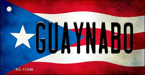 Guaynabo Puerto Rico State Flag License Plate Wholesale Key Chain KC-11346