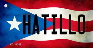 Hatillo Puerto Rico State Flag License Plate Wholesale Key Chain KC-11348