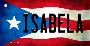 Isabela Puerto Rico State Flag License Plate Wholesale Key Chain KC-11351