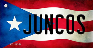 Juncos Puerto Rico State Flag License Plate Wholesale Key Chain KC-11354