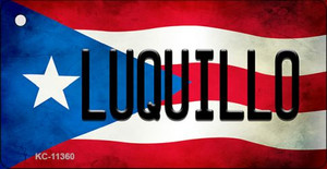 Luquillo Puerto Rico State Flag License Plate Wholesale Key Chain KC-11360