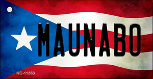 Maunabo Puerto Rico State Flag License Plate Wholesale Key Chain KC-11363