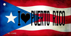 I Love Puerto Rico Puerto Rico State Flag License Plate Wholesale Key Chain KC-11409