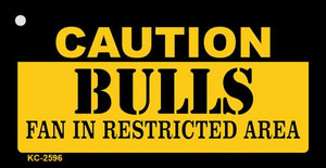 Caution Bulls Fan Area Wholesale Key Chain KC-2596