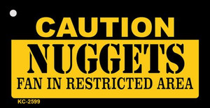 Caution Nuggets Fan Area Wholesale Key Chain KC-2599