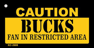 Caution Bucks Fan Area Wholesale Key Chain KC-2608