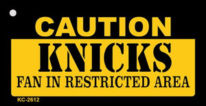 Caution Knicks Fan Area Wholesale Key Chain KC-2612