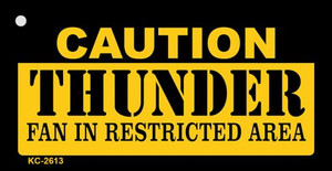 Caution Thunder Fan Area Wholesale Key Chain KC-2613
