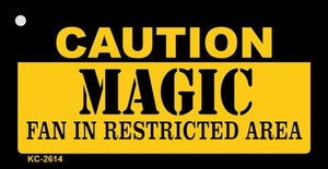 Caution Magic Fan Area Wholesale Key Chain KC-2614