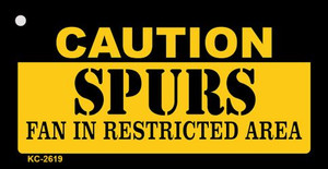 Caution Spurs Fan Area Wholesale Key Chain KC-2619