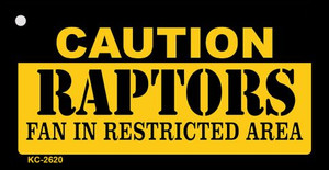 Caution Raptors Fan Area Wholesale Key Chain KC-2620