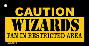 Caution Wizards Fan Area Wholesale Key Chain KC-2622