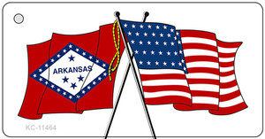 Arkansas Crossed US Flag Wholesale Key Chain KC-11464