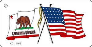 California Crossed US Flag Wholesale Key Chain