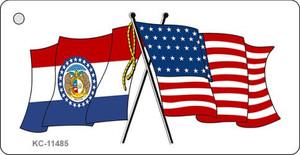 Missouri Crossed US Flag Wholesale Key Chain