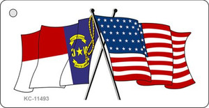 North Carolina Crossed US Flag Wholesale Key Chain