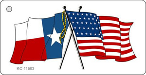 Texas Crossed US Flag Wholesale Key Chain