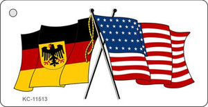 Germany Crossed US Flag Wholesale Key Chain