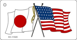 Japan Crossed US Flag Wholesale Key Chain