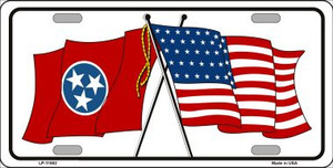Tennessee Crossed US Flag Wholesale License Plate LP-11502