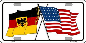 Germany Crossed US Flag Wholesale License Plate LP-11513