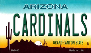 Cardinals Arizona State License Plate Wholesale Magnet M-2033